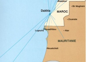 carte frontière Mauritanie Maroc
